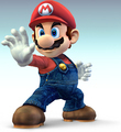 What was Mario's first outfit colors