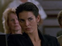 What episode does Angie Harmon make her debut as ADA Abbie Carmichael?