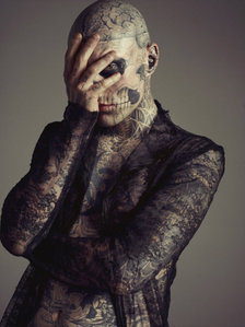 What is Rick Genest's nickname?