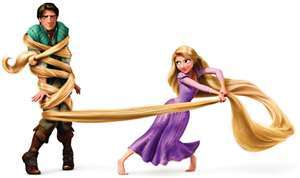 How many inches is Rapunzel*s hair???