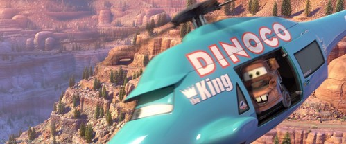 "CARS: What is number on the Dinoco helicopter's ""tail""?"