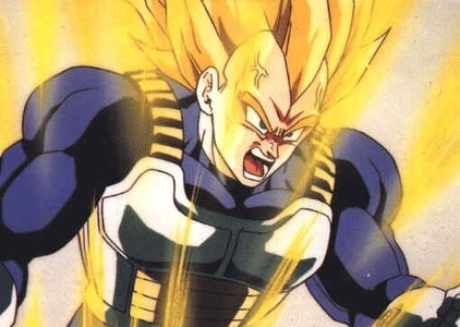 what did vegeta say to trunks and every body else about cell before the detik fight