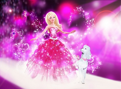 Which fairy transformed the dress of barbie in barbie a fashion fairy tale?