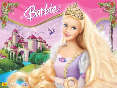 In what language Rapunzel is called Barbie and a Dragon?