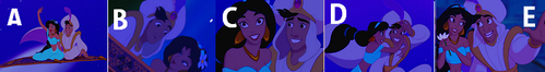 Aladdin: Which is the right order of the pictures?