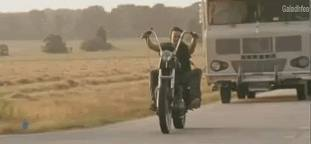Who&#39;s the owner of the Motorbike Daryl uses to travel?