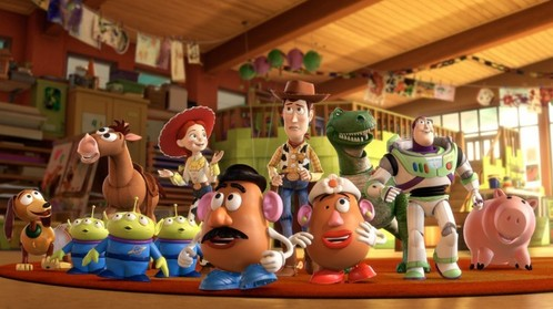 What was the primary location for Andy's toys in Toy Story 3?