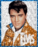 What colour are Elvis's suede shoes ?