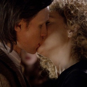 What did the Doctor say to River song in the episode 'the wedding of river song' before she kissed him?