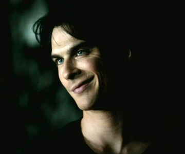 Damon smiling at who in Ghost World?