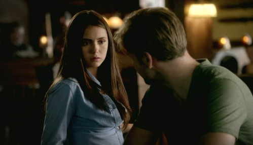 """Alaric: """"You want to hunt down a pack of licantropi on a full moon?"""" Elena: """"We'll be out of there before the moon is full!"""""""