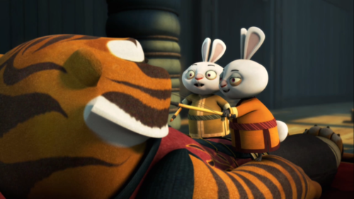Which of these questions did the two rabbit children ask Tigress first?