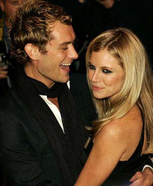 True or False: Sienna Miller was in talks before her ex-fiance Jude Law was cast Watson?
