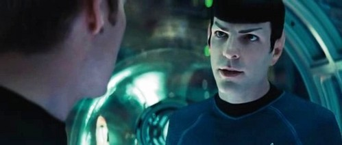 Before going separate ways on the Narada, Spock asks Kirk to tell what to Uhura if he didn't return from the mission?