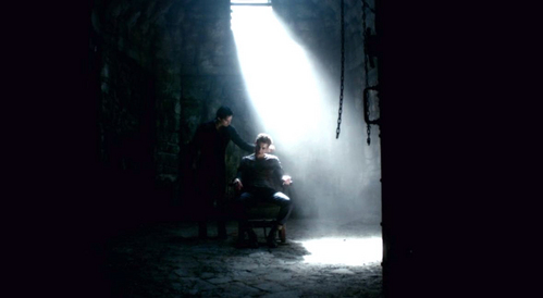 """Damon: """"It's family hari at vampire rehab. Just paying a visit to my baby brother."""