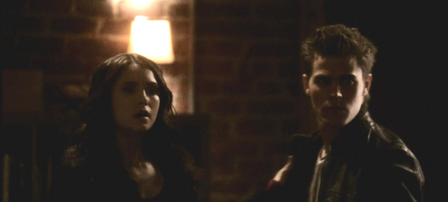 Who walks in on Katherine and Stefan?