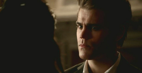 """Katherine: """"I get that you've turned off your humanity and that you don't care, so there's only one solution."""" Stefan: """"What's that?"""" Katherine:""""Care, Stefan."""""""