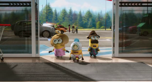 what are the names of the minions assigned to buy the unicorn toy?