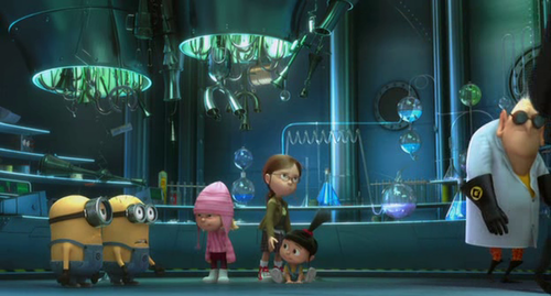 What are the names of the minions assigned to play with the girls?