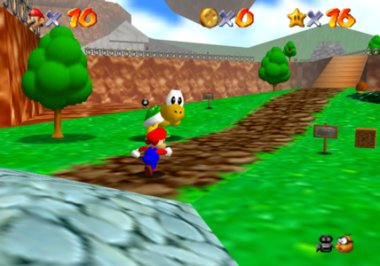 SUPER MARIO 64 - One of them is NOT a secret course