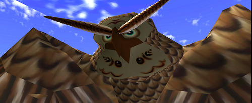 NINTENDO CHARACTERS - This wise old owl assists Link throughout his adventures. He can rotate his head in the owl-like fashion