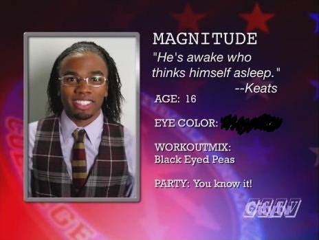 What is Magnitude's eye colour?