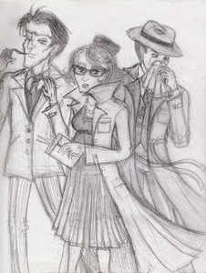 This is fanart of what characters?