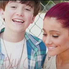What video was Ariana in for Greyson Chance?