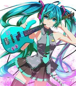 What Color is Miku Zatsune's Hair ?