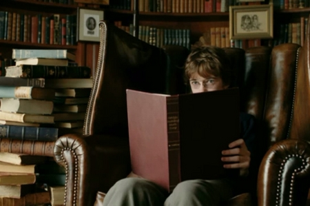 What book is he reading?