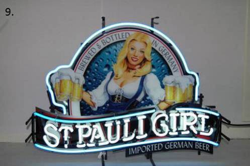 Who did Michael end up giving his St. Pauli Girl neon sign too?
