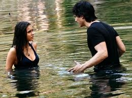 "Damon: ""But we are out of here before the moon is full and i'm werewolf bait."" What Elena said?"