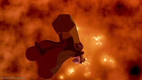 T/F:Disney made Frollo's death worse in the movie than it was in the novel