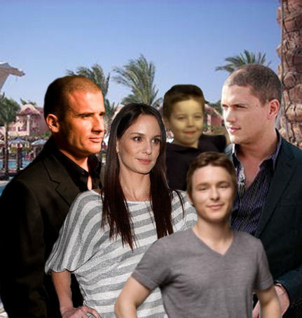 Where live Family Scofield and Family Burrows?