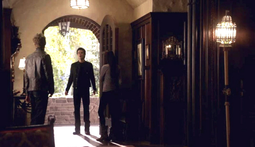 """If I let you in, do you promise to obey the owner of this house?"" Elena to Damon in what season 2 episode?"