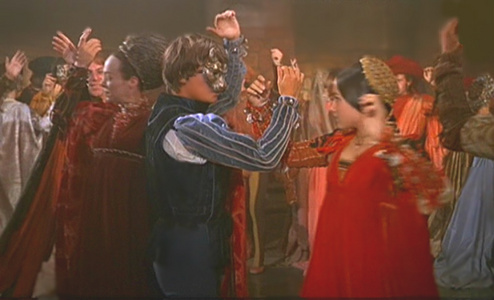 What was the Name of the Dance, where Romeo & Juliet first have a chance to Dance together?