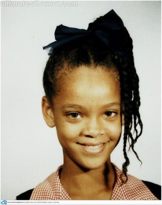 What age was Rihanna in this pic.
