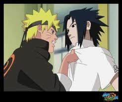 Who are Naruto and Sasuke's English voice actors, respectively?