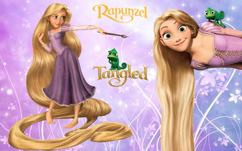 how many feets does rapunzel hair ?