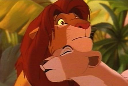 "T/F Simba and Nala never कहा to each other ""I प्यार you!"""