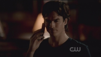 In this scene Damon is talking with