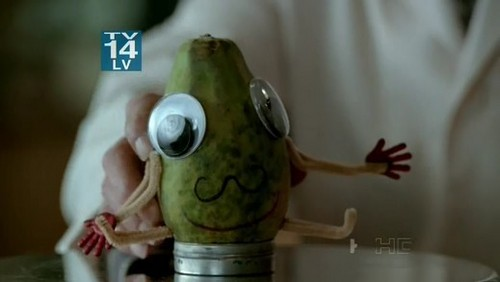 Walter: 'To understand what happened we'll use mr papaya.This is upsetting because he's the friendliest of fruits.'