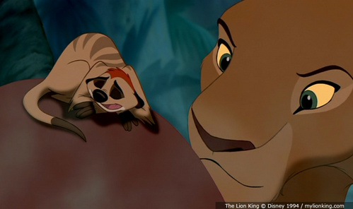 What is the last word Nala says in the 1st movie?