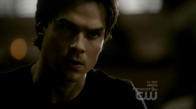 In this scene (2x12 - The Descent) Damon is talking with