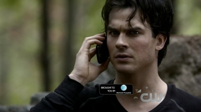 In this scene (2x10 - The Sacrifice) Damon is talking with