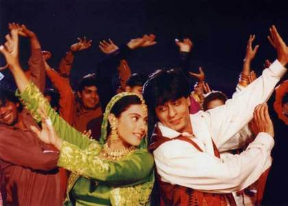"Which SRKAJOL movie does the song"" Mehndi La Ga Ke Rakhna"" occcur?"