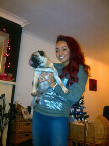 What is the name of Leigh-Anne's Pug?