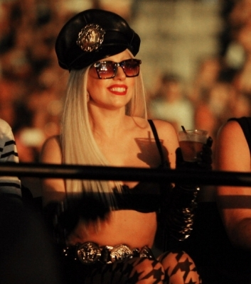 In this photo she&#39;s in the audience of a ___________ concert