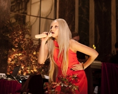 Which song is she performing in this photo?
