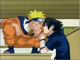 How many times in the series did naruto and Sasuke accidentally kiss?